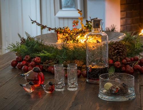 Karaffel og Glass fra Hadeland Glassverk