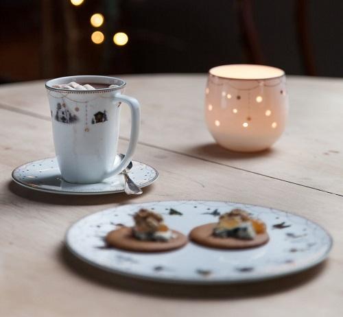 Julemorgen krus og tallerken